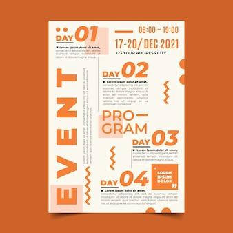 Modelo de cartaz - programação de eventos