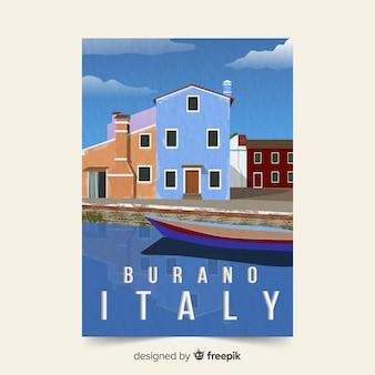 Modelo de cartaz promocional da itália
