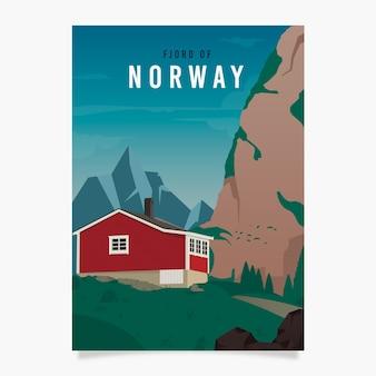 Modelo de cartaz promocional da noruega