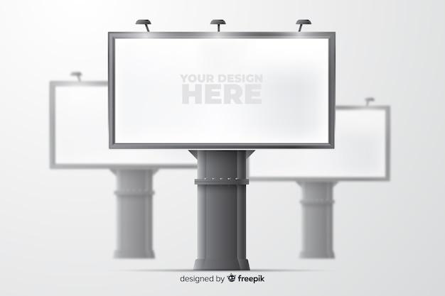Modelo de cartaz realista