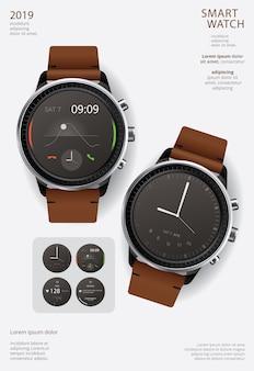 Modelo de cartaz - relógio inteligente