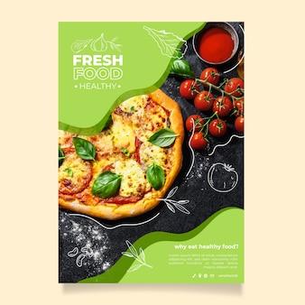 Modelo de cartaz - restaurante de comida saudável