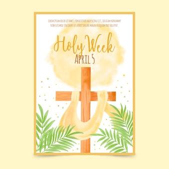 Modelo de cartaz - semana santa
