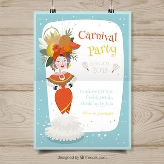 Modelo de cartaz suspenso para carnaval