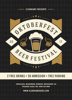Modelo de cartaz tipográfico oktoberfest
