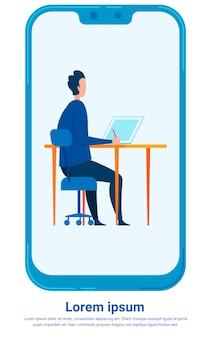 Modelo de cartaz - trabalhador de escritório, banqueiro