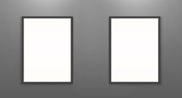 Modelo de cartazes de filme em branco. molduras brancas