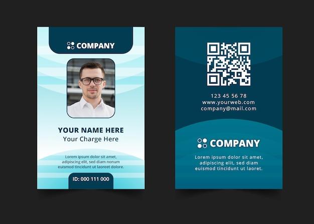 Modelo de carteira de identidade empresarial geral