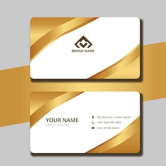 Modelo de carteira de identidade empresarial ondulada de luxo