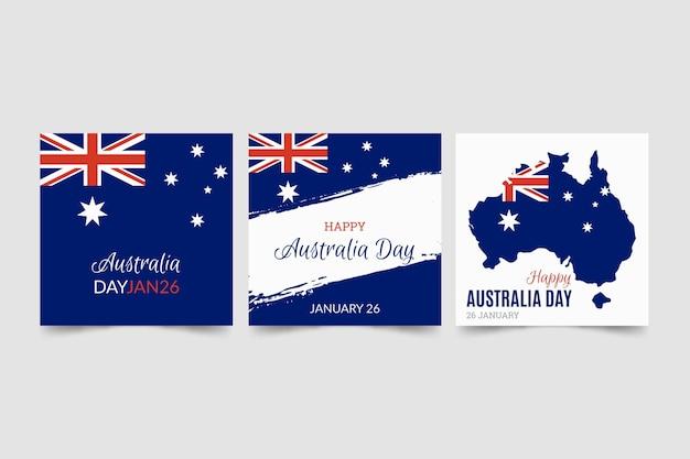 Modelo de cartões comemorativos do dia da austrália