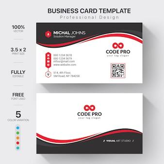 Modelo de cartões corporativos com variação de cor