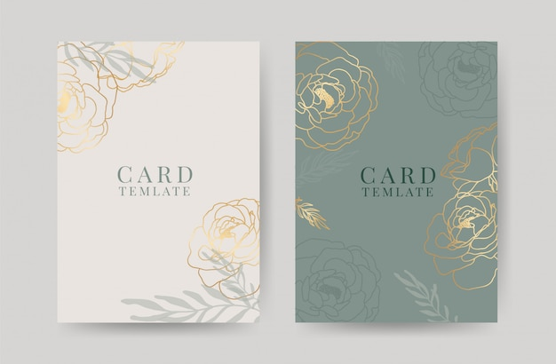 Modelo de cartões de convite de casamento de luxo