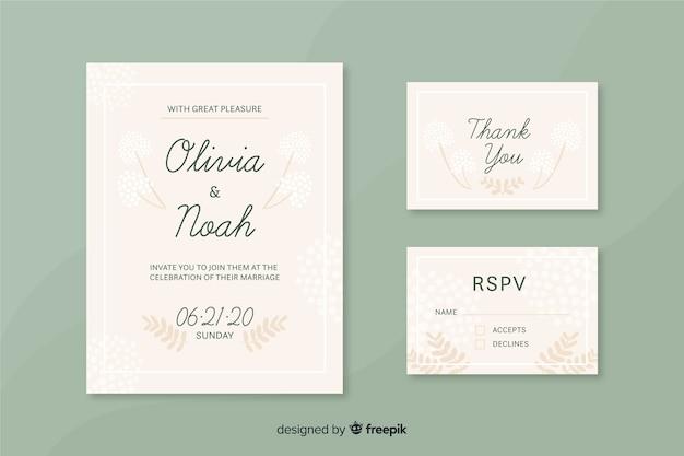 Modelo de cartões de convite de cerimônia