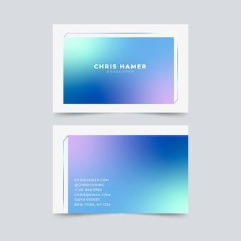 Modelo de cartões de gradiente pastel