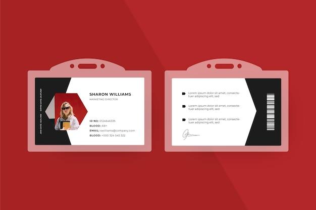 Modelo de cartões de identificação com design minimalista