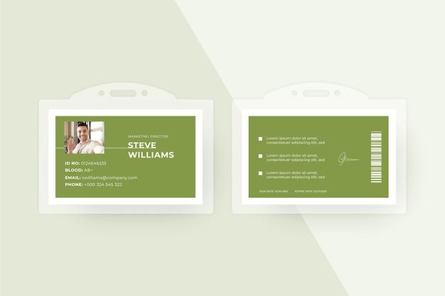 Modelo de cartões de identificação de estilo minimalista