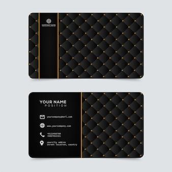 Modelo de cartões de ouro e luxo elegante