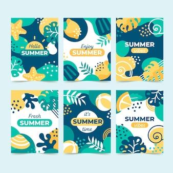 Modelo de cartões de verão