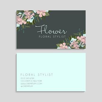Modelo de cartões de visita de flores