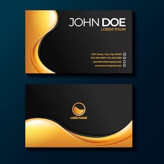 Modelo de cartões de visita de luxo gradiente dourado