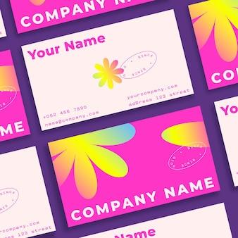 Modelo de cartões de visita gradiente colorido