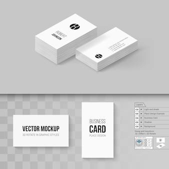 Modelo de cartões de visita. marca com opções de rotação