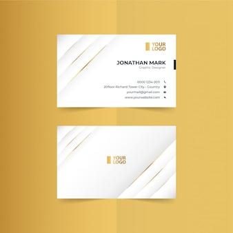 Modelo de cartões de visita simples ouro premium