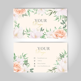 Modelo de cartões florais