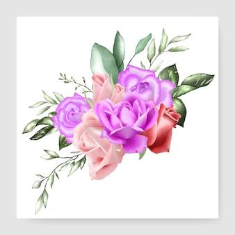 Modelo de casamento aquarela buquê floral