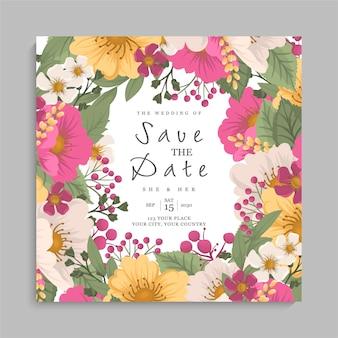 Modelo de casamento floral - guirlanda floral rosa