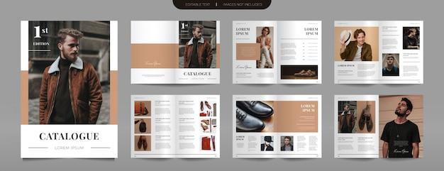Modelo de catálogo de moda moderna