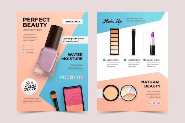 Modelo de catálogo de produtos de beleza em gradiente colorido