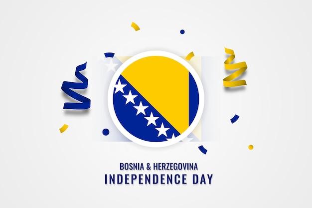 Modelo de celebração do dia da independência da bósnia e herzegovina Vetor Premium