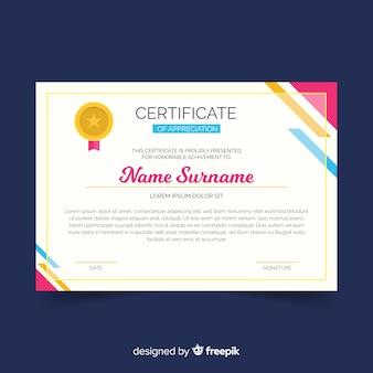 Modelo de certificado abstrato design