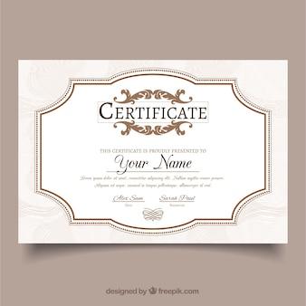 Modelo de certificado achievement