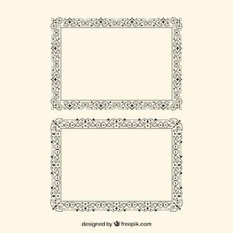 Modelo de certificado com borda ornamental