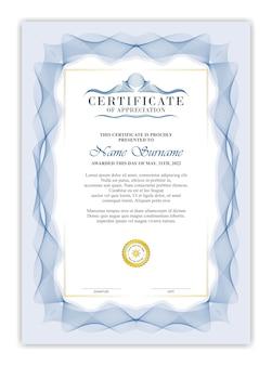 Modelo de certificado. com classic blue
