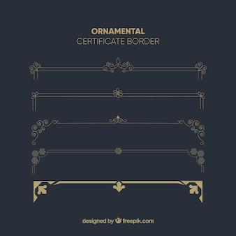 Modelo de certificado com estilo vintage