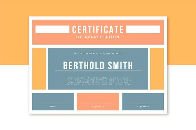 Modelo de certificado comercial