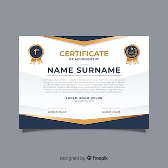 Modelo de certificado criativo