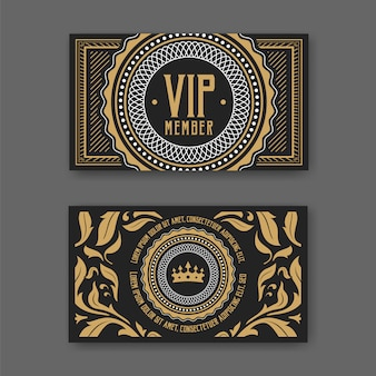 Modelo de certificado de cartão de associação VIP