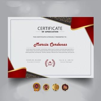 Modelo de certificado de conquista moderno