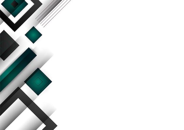 Modelo de certificado de cor gradiente de fundo geométrico abstrato verde e dourado. terno para plano de fundo de apresentação, banner, pôster, folheto, capa, cartão de visita e muito mais