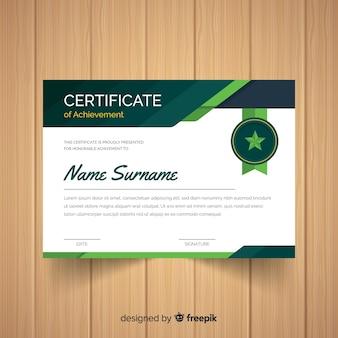 Modelo de certificado de crachá de estrela