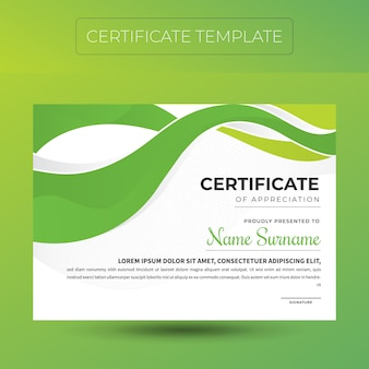 Modelo de certificado de diploma elegante