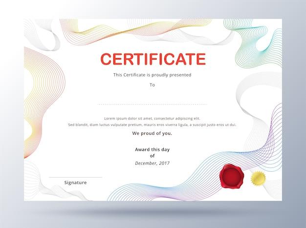 Modelo de certificado de diploma