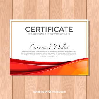 Modelo de certificado de estilo abstrato