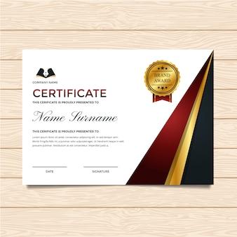 Modelo de certificado de luxo