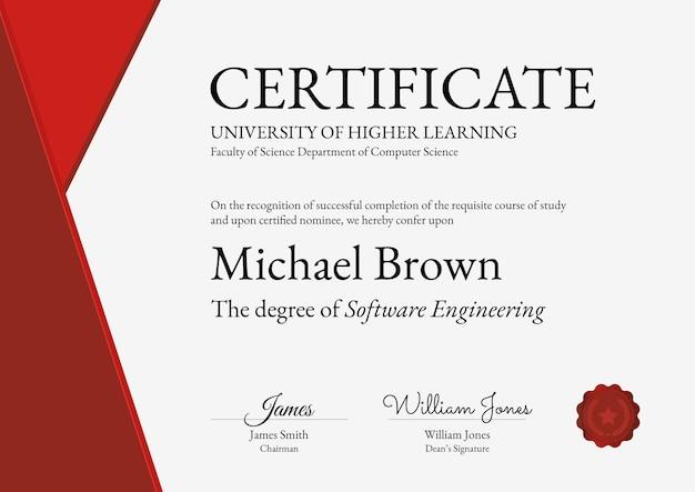 Modelo de certificado de prêmio profissional em design abstrato