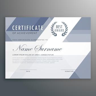 Modelo de certificado de realização abstrata moderna